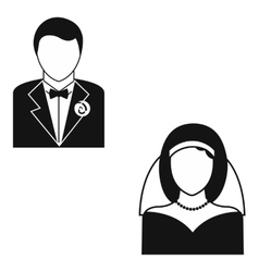 Marriage simple icon vector