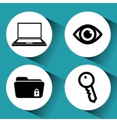 Security system and technology vector