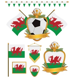 wales flags vector image