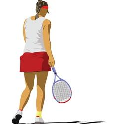 Woman tennis player vector