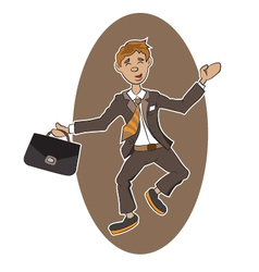 a successful person vector image vector image