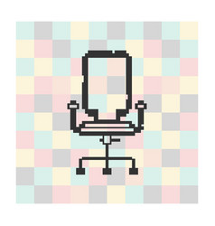 black office chair isolated on square background vector image