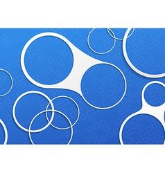 Blue folder white circle design elements vector image