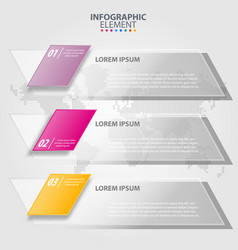 Business infographics transparancy design elements vector