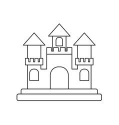 castle cartoon icon image vector image