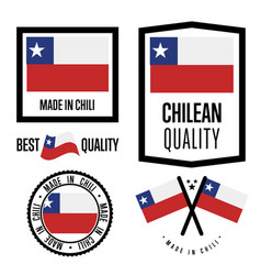 Chili quality label set for goods vector