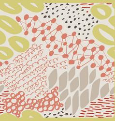 complex hand drawn circles and dots vector image vector image