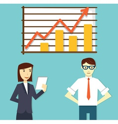 Concept of business plan development vector