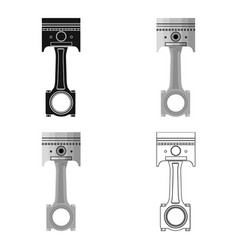 connecting rod with piston single icon in cartoon vector image