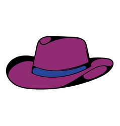 Cowboy hat icon icon cartoon vector