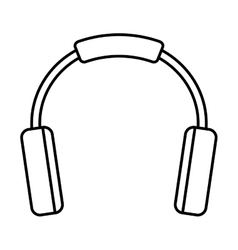 Earphones sound device isolated icon vector