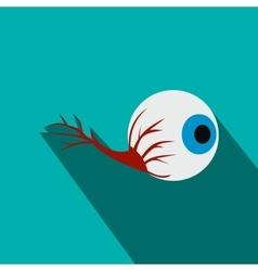 Eyeball flat icon with shadow vector