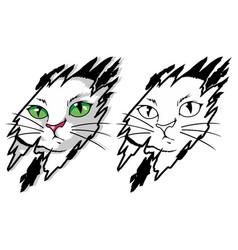 funny cat mascot cartoon vector image