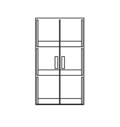 glass door icon image vector image