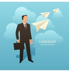 Leadership business conceptual with vector image vector image