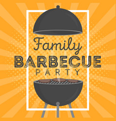 Lovely barbecue party invitation design template vector