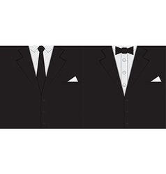 Male clothing suit background vector image vector image