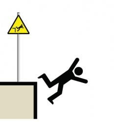 man falling vector image