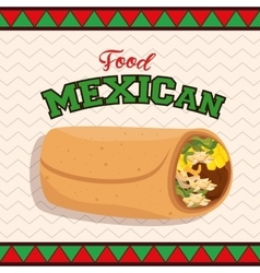 mexican food taco poster vector image vector image