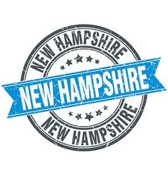 New hampshire blue round grunge vintage ribbon vector