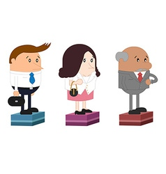 personnel office worker and boss vector image vector image