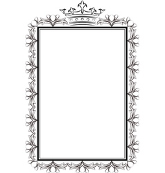 royal frame vector image vector image
