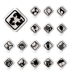 simple ecology icons - set for web applications vector image vector image