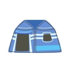 Stripy blue bright color tarpaulin tent vector