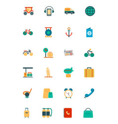 Travel colored icons 5 vector