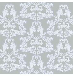 Vintage floral ornament damask pattern vector