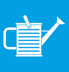 watering can icon white vector image