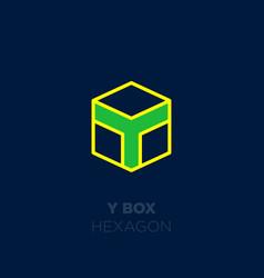 y box color logo vector image