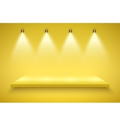 Yellow Presentation platform vector image vector image