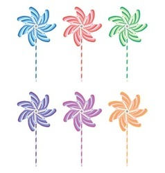 Pinwheel set vector