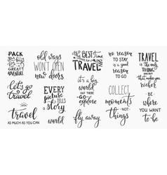Travel life inspiration quotes lettering vector