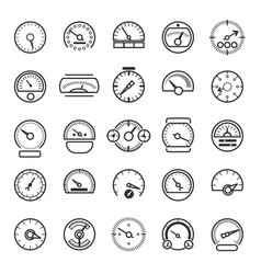 meter and gauge control icons for dashboard vector image