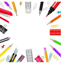 Stationery realistic frame vector