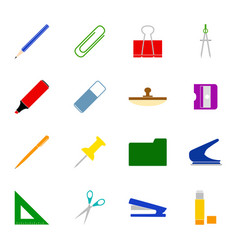 Set of stationery icons vector