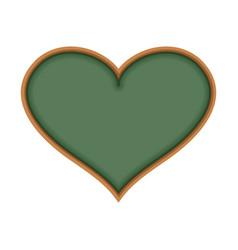 School board in form of heart i love learn i like vector