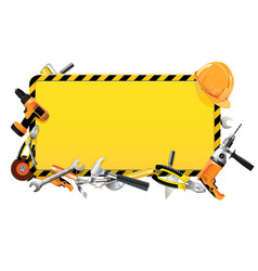 Construction frame with tools vector