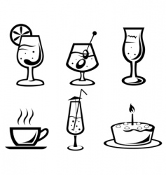 Cocktail and drink symbols vector