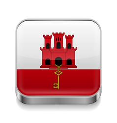Metal icon of gibraltar vector