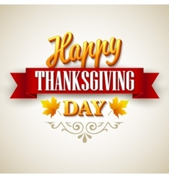Typographic thanksgiving design vector
