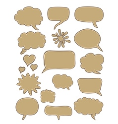 set of cartoon speech bubbles vector image