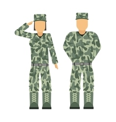 Military people soldier in uniform avatar vector