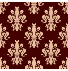 Fleur-de-lis floral seamless pattern background vector