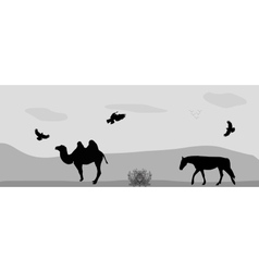 Animals for a walk vector