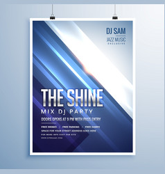 Beautiful shiny abstract music party flyer vector
