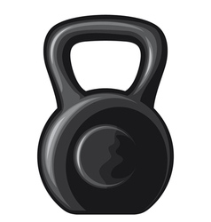 black kettlebell vector image vector image