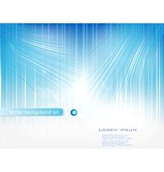 blue circle card abstract water vector image vector image